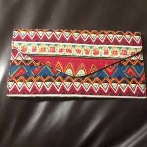 Tribal envelope clutch